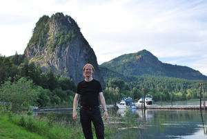Jeroen Massar in Beacon Rock State Park, Washington, United States of America